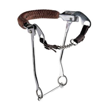 Sprenger Hackamore mit Kinnkette und Edelstahl Seitenteilen, 35cm