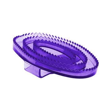Horze Kleiner flexibler und transparenter Gummistriegel