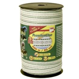 Elektroband Premium 200m für Weidezäune 20mm weiß