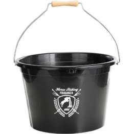 FOUGANZA Flexibler Stalleimer 17 Liter, schwarz, Größe: No Size