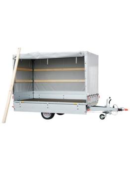 Set: PKW-Anhänger »BASIC SH 1300-25-13«, inkl. 100 cm Hochplanenset