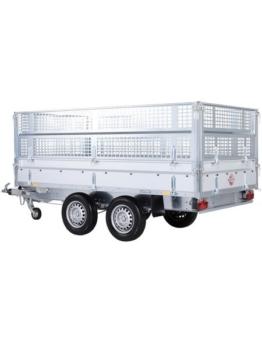 Set: PKW-Anhänger »Rückwärtskipper 2,7 t«, inkl. E-Hydraulikset und Gitteraufsatz