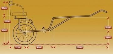 Sulky Cavalettie Sport Edition mit Scheibenbremsen f. Shettys / Pony (STM 1,15m)