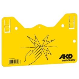 Warnschild für Weidezaun Elektrozaun gelb x1