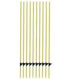 Zaunpfahl Fiberglas x 10, gelb