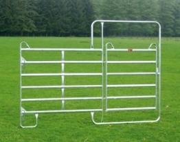 Zaunelemente Panel mit Tor - ideal zum Bau von mobilen Boxenanlagen und Zäunen Patura