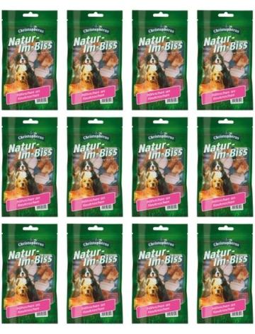 Hundesnack »Hähnchen an Kauknochen«, 12 x 70 g